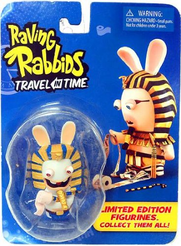 """Raving Rabbids """"Travel in Time"""" Collectible Figurine - """"Pharoah"""" - 1"""