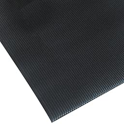 NoTrax 413 Blade Runner Safety/Anti-Fatigue Mat with Dyna-Shield PVC Sponge, 3' Width x 5' Length x 1/2'' Thickness, Black