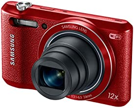 "Samsung WB35F 16.2MP Smart WiFi & NFC Digital Camera with 12x Optical Zoom and 2.7"" LCD (Red)"