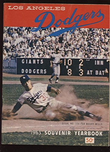 1963 Los Angeles Dodgers Yearbook Exmt