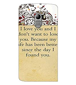 PrintDhaba Quote D-4715 Back Case Cover for LENOVO K4 NOTE A7010a48 (Multi-Coloured)