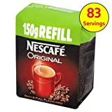 Nescafe Original Refill Instant Coffee Granules 150g case of 6