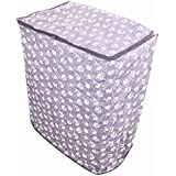 Dream Care Grey Floral Waterproof & Dustproof Printed Washing Machine Cover For Semi Automatic Machine For Godrej GWS 8002 PPC 8 Kg Washing Machine