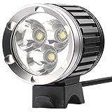 CREE XM-L T6 Super Hell, 3800 Lumen 3x LED Fahrradlampe, Scheinwerfer, Taschenlampe CREE3X3800