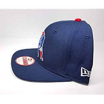 New Era New England Patriots 9Fifty Vintage Throwback Navy Blue Logo Adjustable Snapback Hat NFL