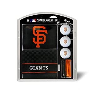 MLB San Francisco Giants Embroidered Towel Gift Set, Black by Team Golf
