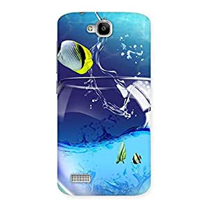 Cute Tub Fish Back Case Cover for Honor Holly