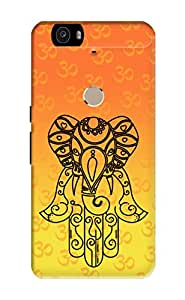 KanvasCases Lord Ganesha Design Back Cover for Nexus 6P + Free Mobile Viewing Stand