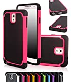ShopNY Case - Samsung Galaxy Note 3 Note III N9000 Case-heavy Duty Rugged Dual Layer Holster Case (Samsung Galaxy Note 3 Note III N9000 Black) (Pink)