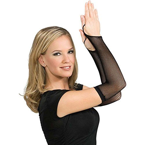 Rubie's Costume Co Black Fishnet Arm Warmers Costume - 1