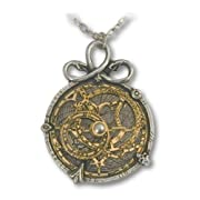 Anguistralobe Alchemy Gothic Astrolabe Pendant Necklace