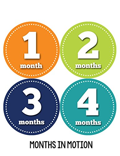 Months In Motion 059 Monthly Baby Stickers Baby Boy Milestone Age Sticker Photo front-219161
