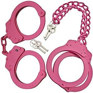 P-15920-P-15906-1-SE Pink Danger Security Set LKKRtd - Handcuff Legcuff Kit 78tyughbn eiw2bghrtyu344 45sgwq Die cast stainless steel (handcuffs) with hot pink finish. Legcuffs forged from nickel plated steel. Double safety locks QGRlkSEaDV on leg cuffs an