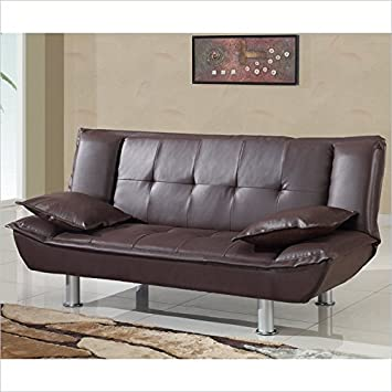 Sofa Bed in Brown Finish