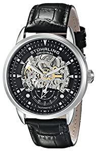 Stuhrling Original Men's 133.33151  Executive Automatic Skeleton Black Watch