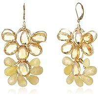[アマンダ・ステレット] AMANDA STERETT 天然石フラワーモチーフピアス F0413 Earrings