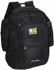 Mens Large All Black Backpack Rucksack Bag - Work Travel Camping Sports School Fishing