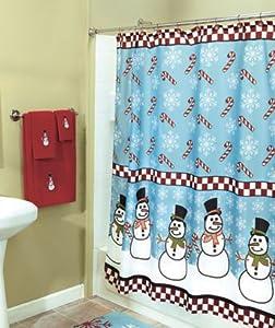 Amazon.com - Frosty the Snowman Snowmen Shower Curtain Bathroom
