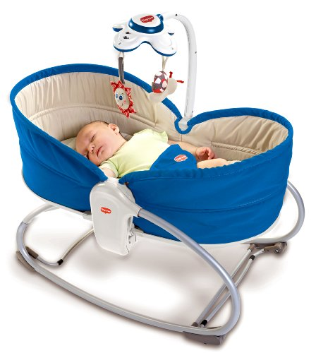 Tiny Love 3 in 1 Rocker Napper Blue Sdraietta, Blu