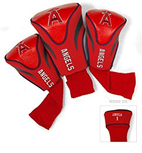 MLB Los Angeles Angels Contour Head Cover (Pack of 3), Navy by Team Golf