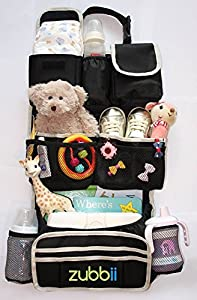 Backseat Car Organizer - EXTRA Storage & BONUS Detachable Pocket - FREE eBook on Kid's Road Trip Games - Premium Quality Durable Waterproof Material - Excellent Kick Mat & Auto Back Seat Cover Protector - Lifetime Satisfaction Guarantee for this Luxury Car Backseat Organizer!