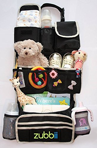 Backseat Car Organizer|Premium Eco friendly Material |Extra pockets |FREE GIFT Travelling with Kids eBook| Lifetime Guarantee