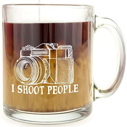 I Shoot People - Glass Coffee Mug