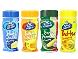 Kernal Seasons Popcorn Seasoning Variety Pack: (1) Kernal Seasons White Cheddar Popcorn Seasoning, (1) Kernal Seasons Nacho Cheddar Popcorn Seasoning, (1) Kernal Seasons Garlic Parmesan Popcorn Seasoning, and (1) Kernal Seasons Butter Popcorn Seasoning, 2.85 Oz. Each