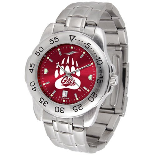 Suntime Montana Grizzlies Ncaa Anochrome Sport Mens Watch Metal Band