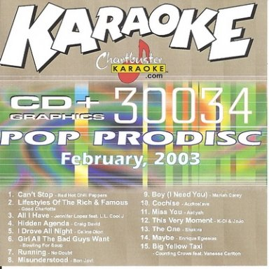 Chartbuster Pop Pro Disc 30034 February 2003 by Red Hot Chili Peppers, Celine Dion, Bon Jovi, Audioslave and Shakira