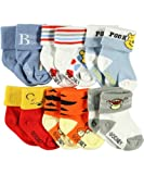 Winnie the Pooh Friends Galore 6-Pack Cuffed Socks (Sizes 0M - 24M)