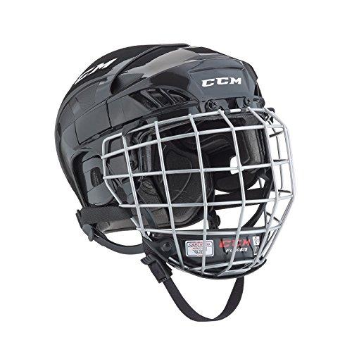 CCM FitLite 40 Hockey Helmet Combo, Medium, Black