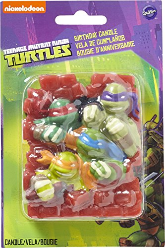 Wilton 2811-7745 Teenage Mutant Ninja Turtles Birthday Candle - 1