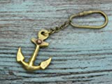 BEAUTIFUL BRASS SHIP ANCHOR KEY CHAINS-NAUTICAL GIFT & OLD Brass Finish
