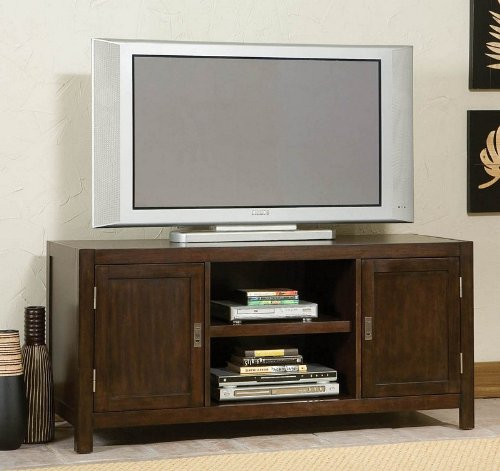 Image of Entertainment TV Stand Contemporary Style in Espresso Finish (VF_HY-5536-12)