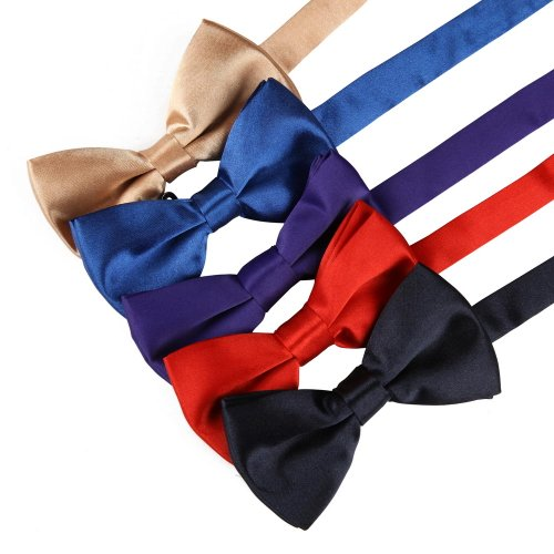 DBF1001 bowtie fashion Khaki,blue,Indigo,red,navy Solid men bow tie Set By Dan Smith (Bow Ties Khaki compare prices)