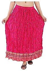 Magnus Women's Long Skirt (SKT469, Pink, L)