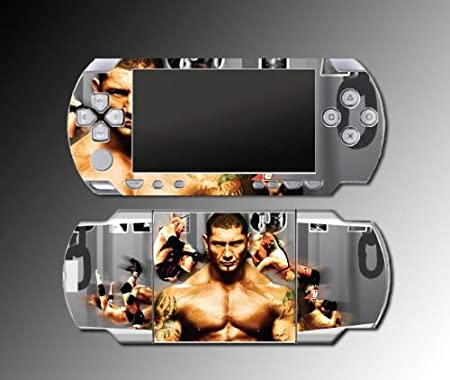 Batista Wrestling Champion WWE Game Vinyl Decal Skin Protector Cover #5 for Sony PSP Playstation Portable 1000