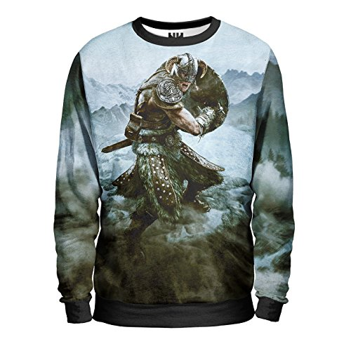 SKYRIM Felpa Uomo - North Pride Sweatshirt Man - The Elder Scrolls Sony Playstation 4 Microsoft Xbox One Console Videogiochi T-Shirt Special Edition
