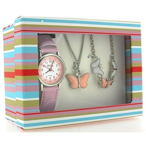 reloj y joyería con mariposas