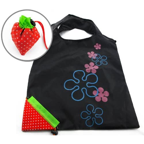 Unique Strawberry Nylon Foldable Reusable Shopping Bags