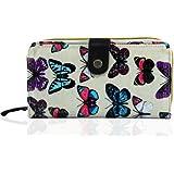 KukuBird Butterfly pattern single compartment purses & Double compartment purses