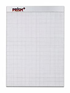 TOPS Prism 100% Recycled Legal Pad, 8-1/2 x 11-3/4 Inches, Perforated, Gray, Quad Rule (5 x 5), 50 Sheets per Pad, 12 Pads per Pack (76584)