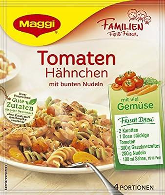 Maggi Familien Fix für Tomaten - Hähnchen mit bunten Nudeln, 15er Pack (15 x 41 g) von Maggi auf Gewürze Shop