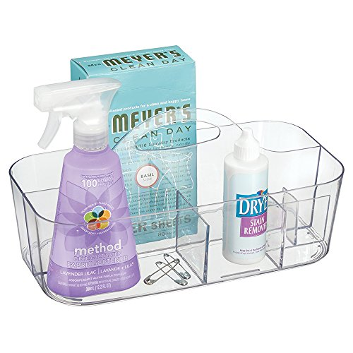 mdesign-laundry-room-storage-tote-for-dryer-sheets-detergent-pods-stain-remover-clothes-pins-clear