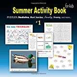 Summer Activity Book for kids #1: Puzzles, Sudoku, Word searches, Journaling, Drawing, and more