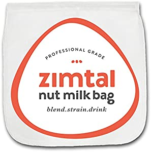 """Professional Industry Nut Milk Bag - Almond Milk Bag - X L - 13 """" X 13 """" - Zimtal Cold Brew Coffee Maker - Premium Quality - Food Strainer - Largest on Amazon - Reusable Bags - Filter Bag - Strainer Fine Mesh - Free Recipes Included"""