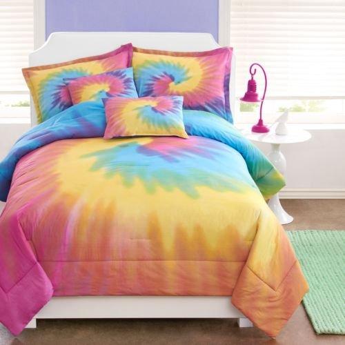 Girls Rainbow Tie Dye Bedding Comforter Sham Set W/2 Pillows~Twin Or Full/Queen front-982864