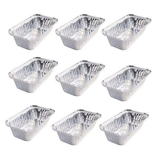 Set of 9 Small Disposable Aluminum Loaf Pans (Small Bread Oven compare prices)