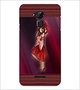 PrintDhaba Umbrella Girl D-4073 Back Case Cover for COOLPAD NOTE 3 LITE (Multi-Coloured)